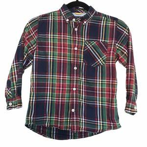 Tommy Hilfiger Plaid Button Down Shirt Size 6